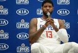 """Clippers"" teks palaukti P.George'o debiuto"