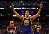 """""""Warriors"""" planuoja K.Thompsonui pasiūlyti 190 mln. dolerių vertės sutartį"""