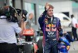 S.Vettelis abejoja, ar būtų iškovojęs pole poziciją sausoje trasoje