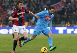 """Napoli"" prarado du taškus, A.Matri debiutiniame mače pelnė dublį"