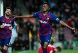 "A.Fati pelnė 2 įvarčius per 2 minutes, o ""Barcelona"" šventė pergalę"