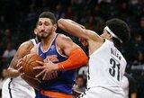 """""""Knicks"""" ir """"Nets"""" mače – sėkmingi E.Kanterio, naujokų biržoje nepašaukto žaidėjo ir latvio pasirodymai"""
