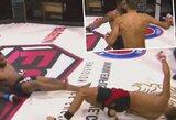 Įspūdingas dvigubas nokdaunas MMA narve: nugalėjo pirmas atsistojęs