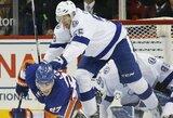 """Prieš rungtynes gražų darbą atlikę """"Islanders"""" ledo ritulininkai nepasipriešino """"Lightning"""" ekipai"""