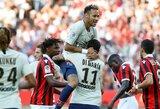 Neymaras pelnė dublį, o PSG iškovojo triuškinamą pergalę