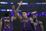 """Įsibėgėjanti """"Lakers"""" parklupdė dar vieną NBA klubą"""