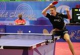 Lietuvos vyrų stalo teniso rinktinės pergalių seriją nutraukė italai