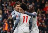 """Vėl prabilęs M.Salah pelnė """"hetriką"""", laimėję """"Liverpool"""" tapo Anglijos pirmenybių lyderiais"""