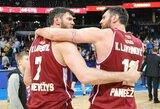 Pokštų nepamiršę broliai Lavrinovičiai kalbėjo apie LKL finalą ir gyrė K.Maksvytį