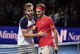 Turnyro Bazelyje starte R.Federeris neužtruko nė valandos, R.Berankis pagrindinį etapą pradės trečiadienį