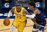 """L.Jameso vedama """"Lakers"""" nutraukė nesėkmių seriją Minesotoje"""