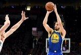"""K.Thompsonas su """"Warriors"""" pasirašys maksimalios vertės kontraktą"""