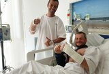 Limos ligoninėje vis dar besigydantį B.Bardauską į oro uostą lydės du medikai