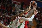 """Rusijoje CSKA ant menčių paguldžiusi """"Baskonia"""" Eurolygos ketvirtfinalyje perėmė namų aikštės pranašumą"""