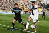 """""""Lazio"""" išvykoje nugalėjo """"Parma"""", """"Bologna"""" ir """"Torino"""" akistatoje užfiksuotos lygiosios"""