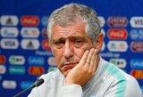 """Portugalijos treneris F.Santosas: """"Teisėjas mūsų atsiprašė"""""""