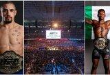 """""""UFC 243"""" pristatymas ir prognozės: visų laikų rekordo laukimas ir neįprastai ankstyvos kovos"""