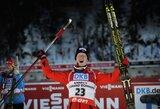 20-metis norvegas įspūdingai laimėjo pasaulio biatlono taurės etapą, K.Dombrovskis pasirodė kukliai