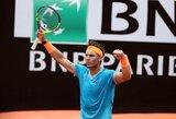 ATP 1000 turnyro Romoje finale – R.Nadalio ir N.Djokovičiaus mūšis