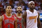 """D.Rose'as: """"Bulls"""" – tarp pretendenčių kitą sezoną laimėti NBA čempionų žiedus"""