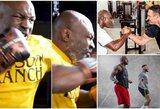 M.Tysonas pasidalino nauju įrašu iš treniruočių, E.Holyfieldas susitiko su V.Kličko
