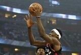"""Karjeros rungtynes atkrintamosiose sužaidęs P.Siakamas atvedė """"Raptors"""" į pergalę"""