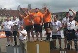 Lietuviai laimėjo komandinį Baltijos galiūnų čempionatą