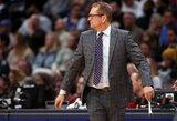 NBA nubaudė J.Valančiūno trenerį