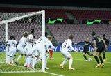 UEFA Čempionų lygoje – retai pasitaikantis epizodas ir D.Tadičiaus įvartis