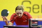 Komandiniame pasaulio stalo teniso čempionate – puiki diena Lietuvos rinktinėms