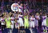 """Po dramatiškos vartininkių akistatos """"Lyon"""" futbolininkės apgynė Čempionų lygos titulą"""