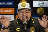 """D.Maradona dėl sveikatos problemų paliko """"Dorados"""" ekipos trenerio postą"""