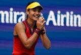 """Fenomenalu: 11 geimų iš eilės laimėjusi 18-metė britė """"US Open"""" turnyre kuria istoriją"""