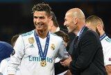 """C.Ronaldo pagyros Z.Zidanui: """"Jis privertė mane jaustis ypatingu"""""""