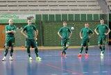 Salės futbolą kartu su Lietuvos rinktine išbandė ir žinomi žmonės