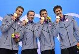 Paskutinę plaukimo varžybų dieną Londono olimpiadoje vainikavo du pasaulio rekordai