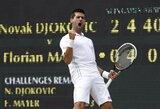 N.Djokovičius ir R.Federeris susirungs Vimbldono pusfinalyje