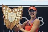 20-metė ispanė Australijoje sensacingai laimėjo pirmą karjeroje WTA serijos teniso turnyrą