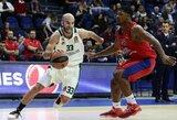 """Fantastiškas N.Calatheso taiklus tritaškis paskutinėmis sekundėmis išplėšė """"Panathinaikos"""" pergalę prieš CSKA"""