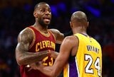 """K.Bryantas: """"Lakers"""" gerbėjai greitai pamėgs Jamesą"""""""