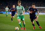 """Ispanijos Karaliaus taurės pusfinalis: 92-ąją minutę įvartį pelnę """"Valencia"""" futbolininkai išplėšė lygiąsias"""