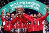 Kroatijos vyrų teniso rinktinė po 13 metų pertraukos tapo Daviso taurės pasaulio čempione