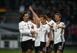"""Vokietija sutriuškino Čekiją, R.Lewandowskio """"hat-trickas"""" atnešė pergalę Lenkijai"""