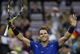 Prestižinio turnyro Šanchajuje starte – R.Nadalio dominavimas ir R.Federerio vargai