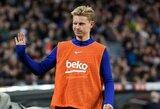 """F.De Jongas: """"Niekada neabejojau, jog galėsiu rungtyniauti kartu su L.Messi ir L.Suarezu"""""""