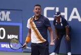 """Visiškas absurdas """"US Open"""" turnyre: bokštelio teisėjas maldavo N.Kyrgioso labiau pasistengti"""