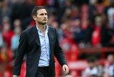 """Į smarkų pralaimėjimą prieš """"Man United"""" sureagavęs F.Lampardas: """"Ateityje turėsime ir daugiau skaudžių pamokų"""""""