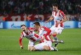 """Netikėtumų vakaras Čempionų lygoje: """"Brugge"""" sutriuškino """"Monaco"""", """"Liverpool"""" krito Belgrade"""