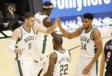 """""""Bucks"""" pagerino NBA visų laikų pataikytų tritaškių rekordą"""