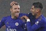 """""""Hat-tricką"""" pelnęs J.Vardy atskleidė, jog """"Leicester City"""" siekė pagerinti """"Premier"""" lygos rekordą"""